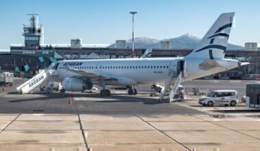 Aegean Airlines A320 at Thessaloniki Airport
