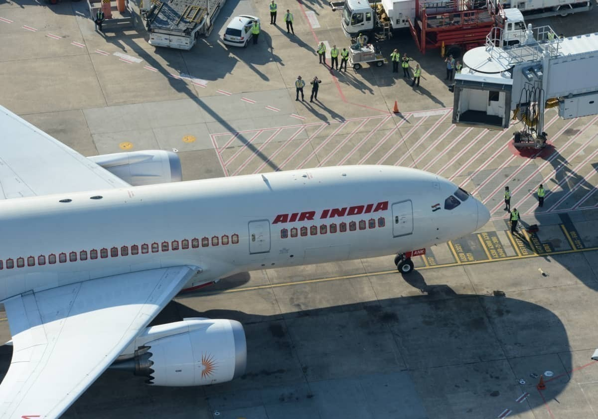 Air India aerial view