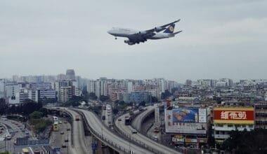 Kai Tak airport arrival