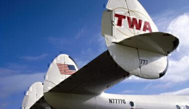 Tail of Lockheed 749 Constellation, Wroughton, Wiltshire, 1984.