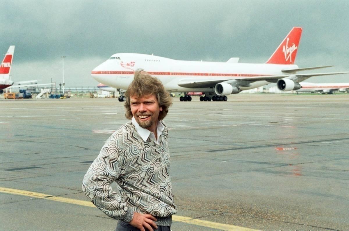 Branson with Virgin 747