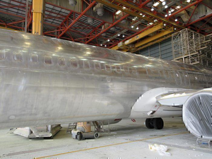 Qantas A330 stripped