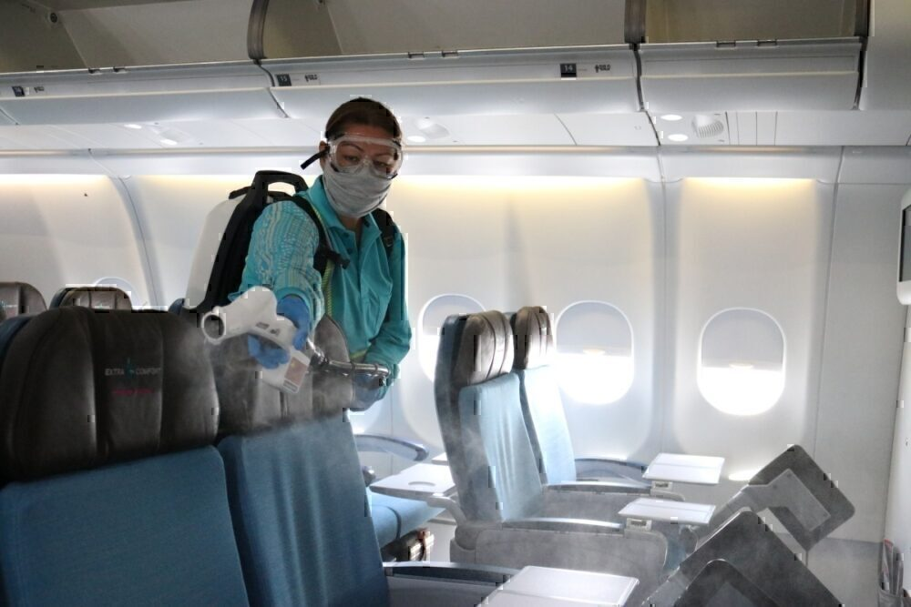 Planes spraying