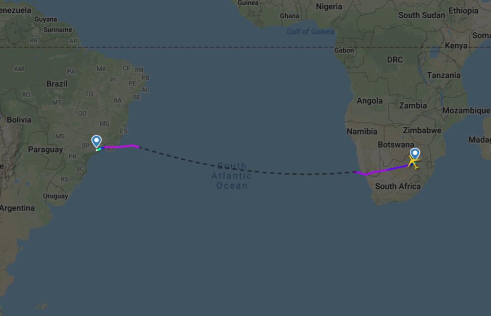 SAA A330 flight path