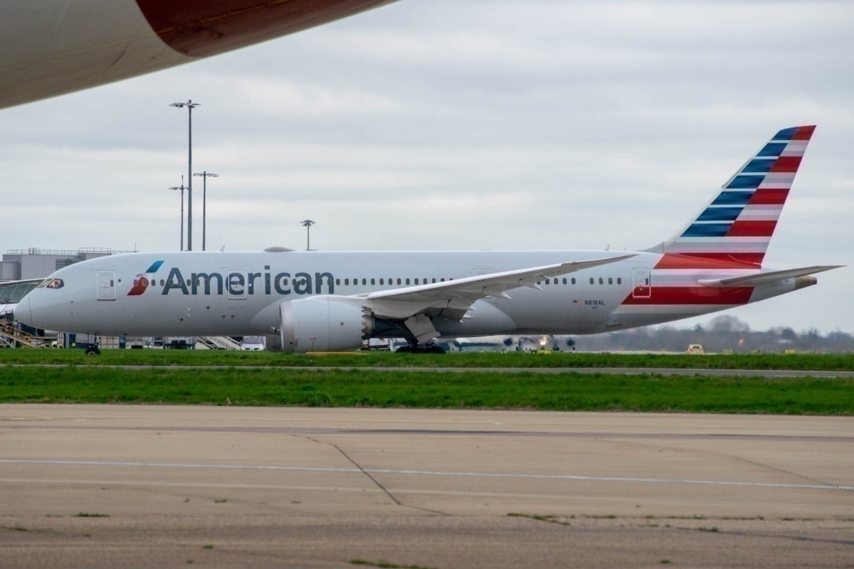 American Airlines 787s Covered In Fire Suppression System Malfunction