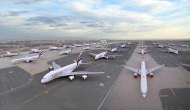 Emirates, Airbus A380, Storage
