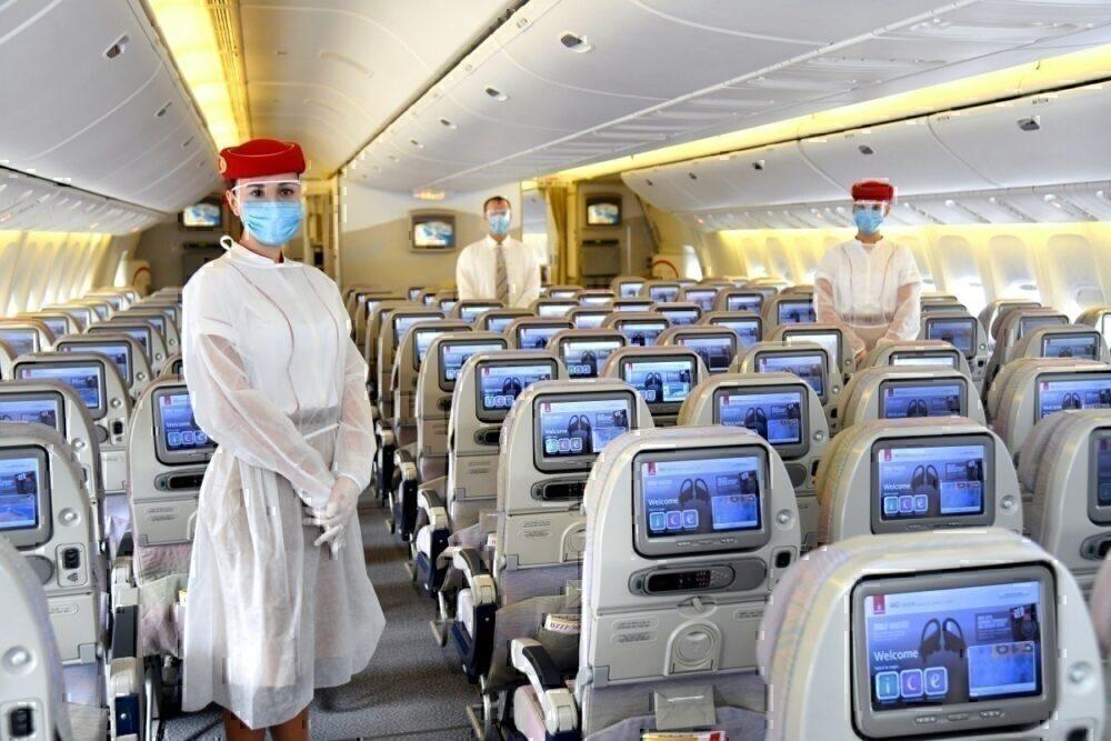 Emirates staff in masks