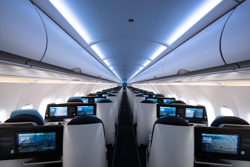 La Compagnie business class cabin