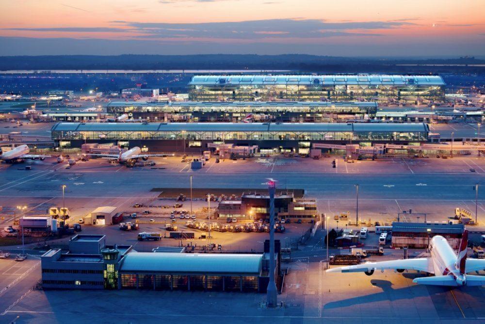 Heathrow airport with BA aircraft