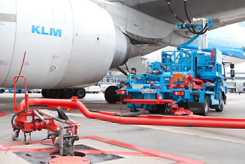 KLM biofuel airport