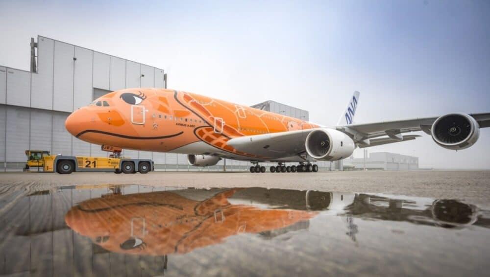 ANA A380 Orange