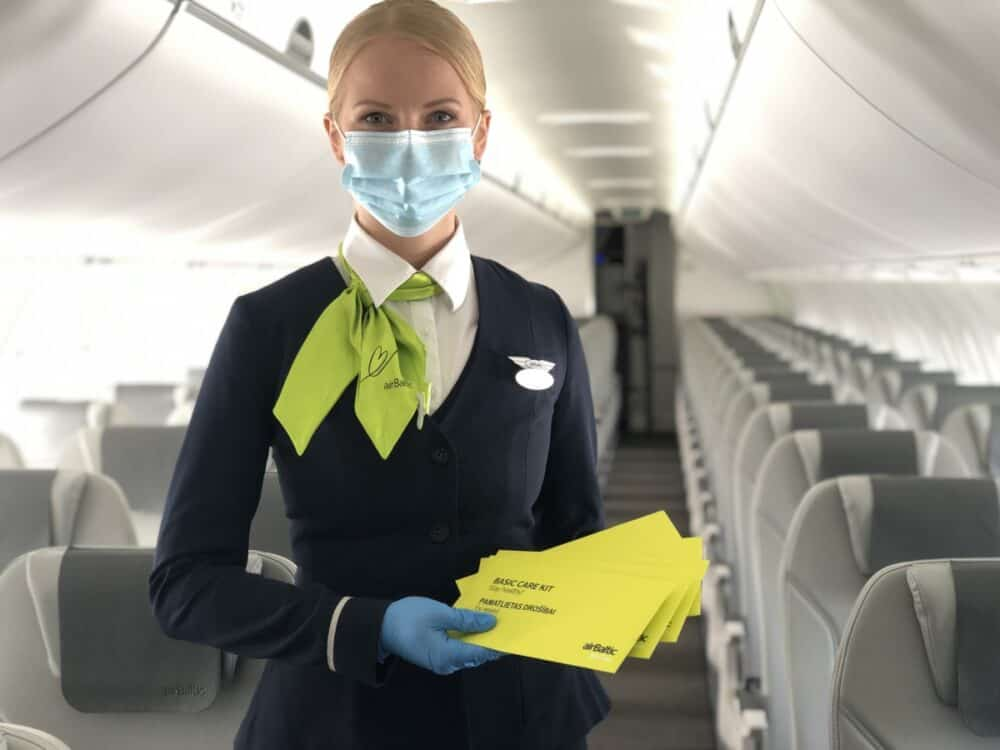 airBaltic, masks, new normal