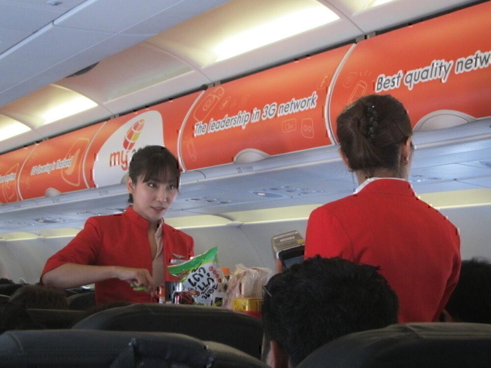 AirAsia overhead locker advert