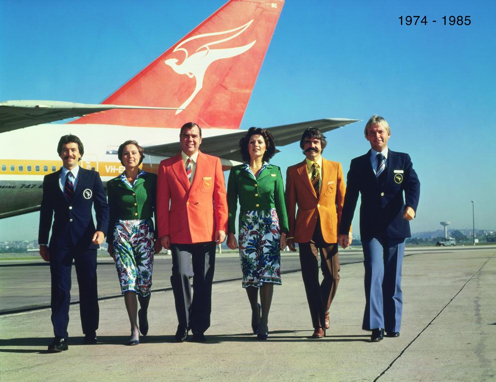 Qantas uniform 1970s