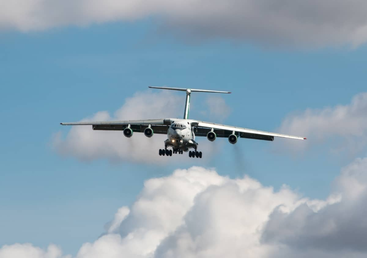 Turkmenistan Airlines Cargo Plane Landing