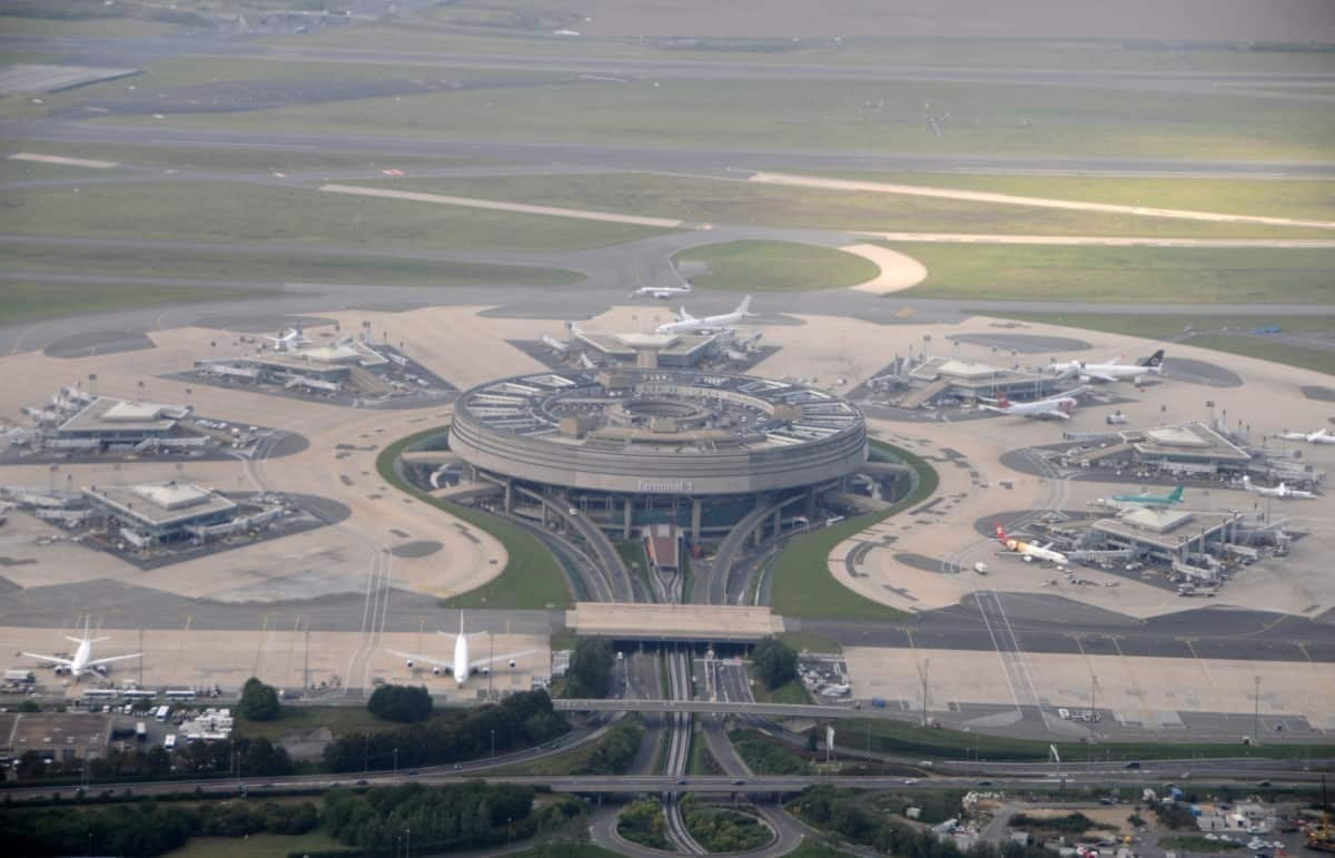 CDG Airport Terminal 1 from the air