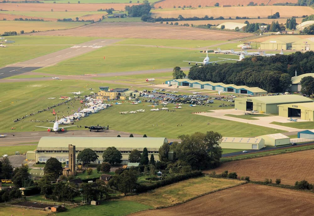 Cotswold airport (kemble) aerial view