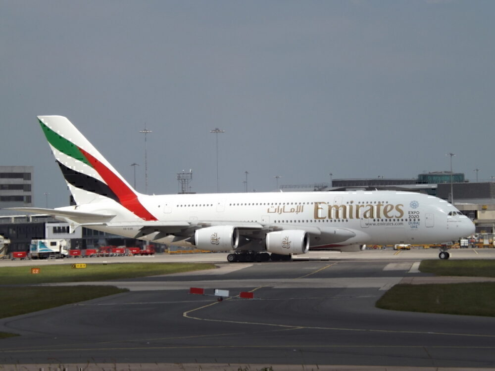 Emirates A380 at Manchester