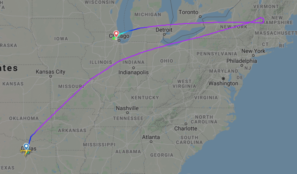 Flight AA-70 diversion O'Hare 787-8