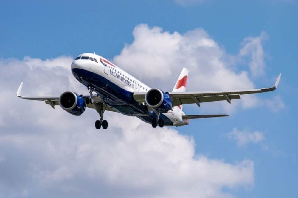 BA aircraft in fight