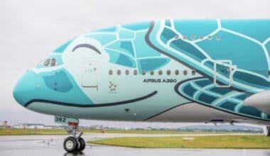 ANA A380 Green
