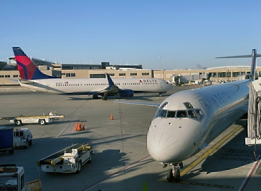 Delta aircraft getty
