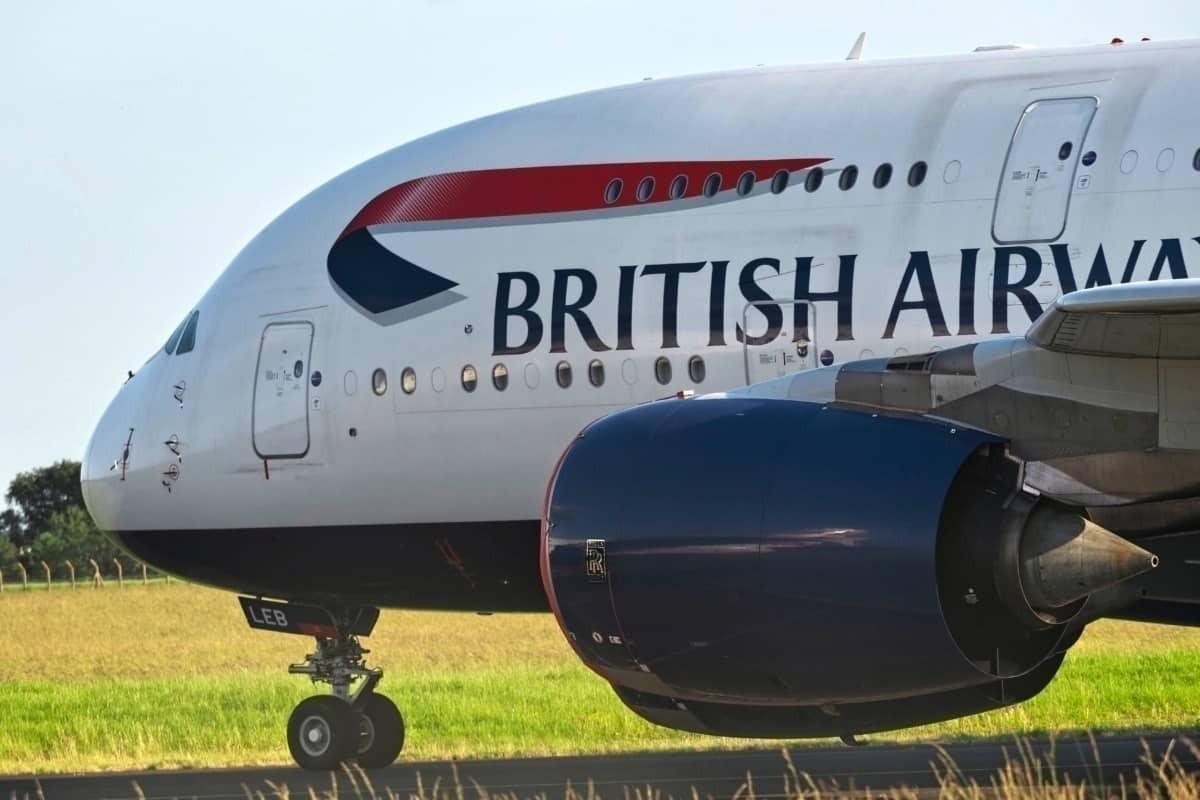 BA A380 nose