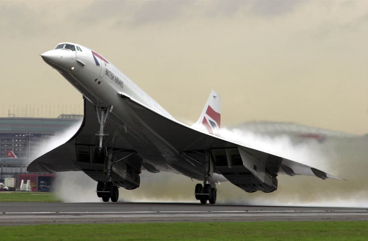BA concorde take off