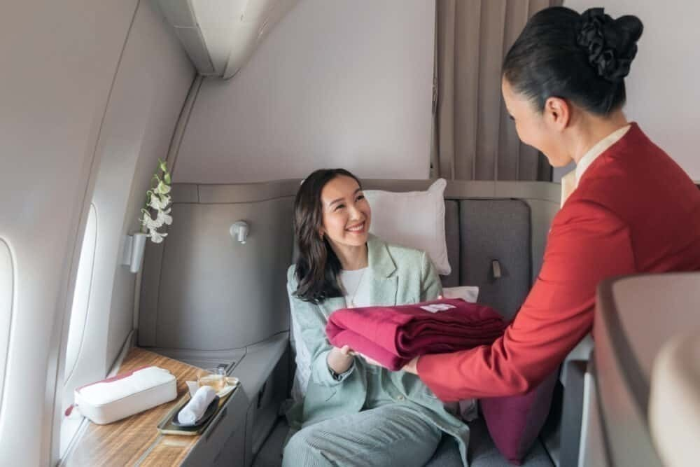 Cathay Pacific's first class seats