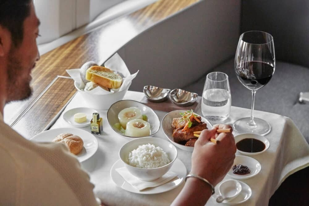 Cathay first class dining