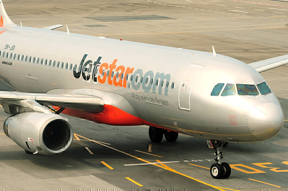 Jetstar Asia plane on tarmac