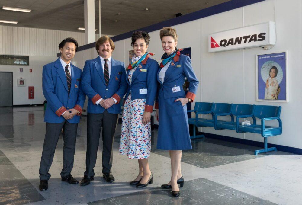 Qantas 1980s cabin crew style