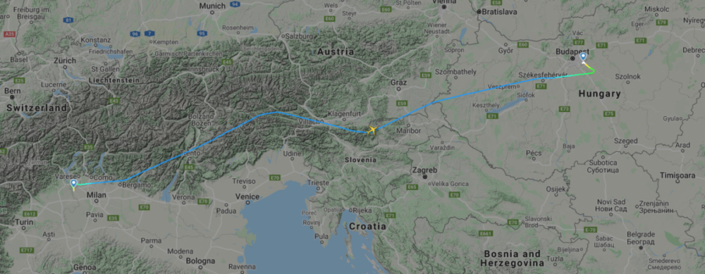 Liquidated Air Italy Flew A Boeing 737 MAX To Budapest Today