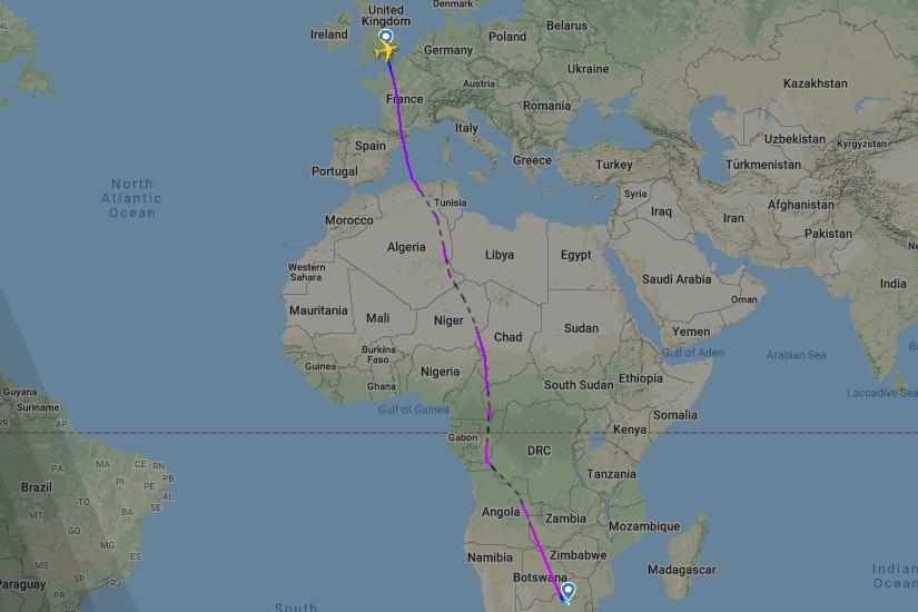 British Airways, Airbus A380, Johannesburg