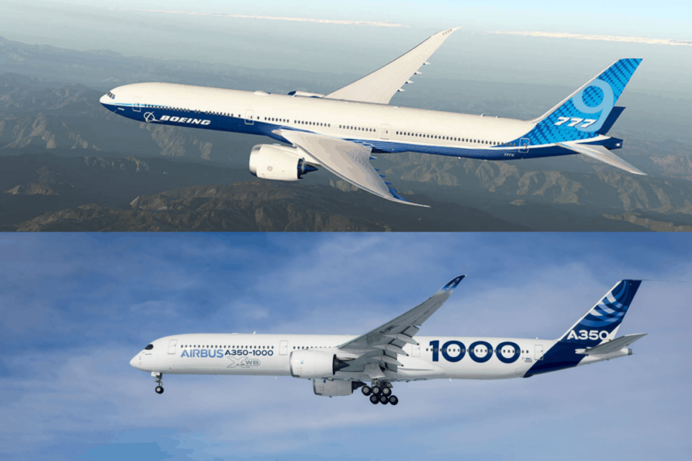 Boeing 777X and Airbus A350