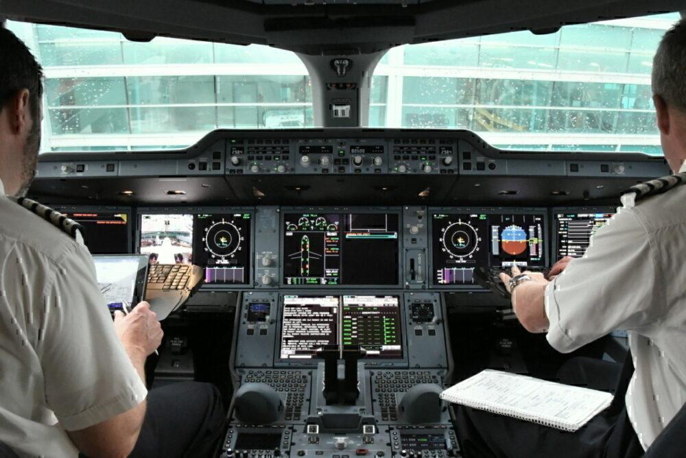 Pilots on A350 BA