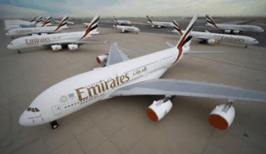 Emirates aircraft stored