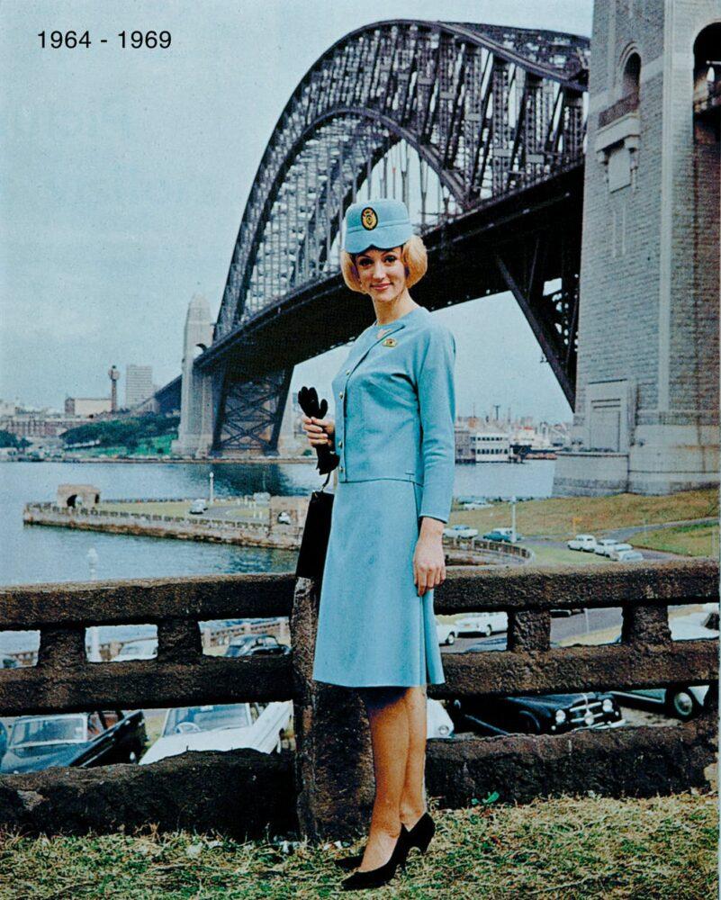 Qantas historical crew uniform