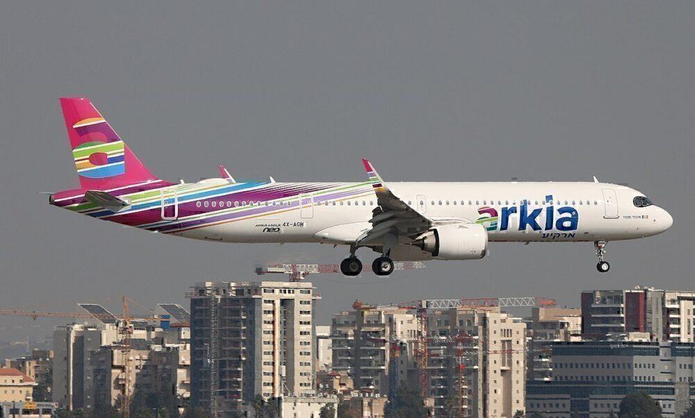 LLHZ2805Arkia A321neo in flight