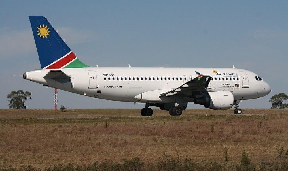 Air Namibia a319 take off