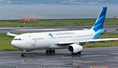 Garuda-Indonesia-Airbus-A330-Taxiway-Excursion