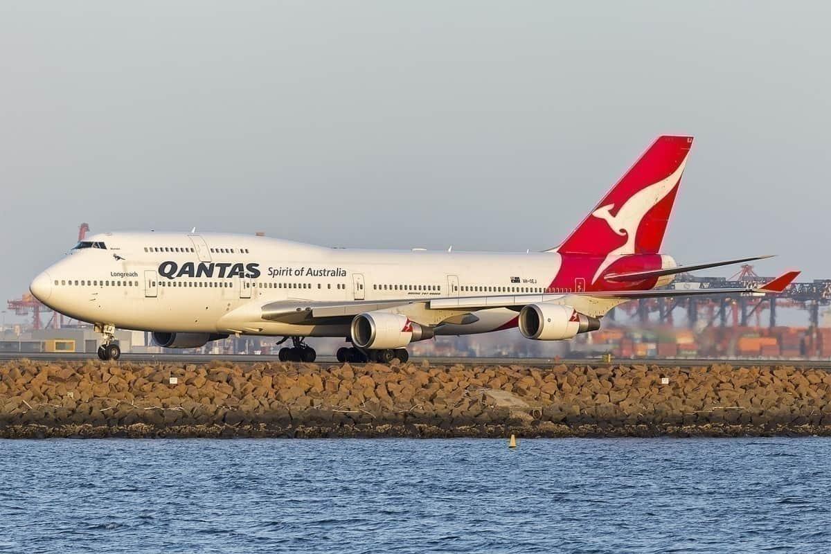Final Qantas Aircraft 747 Boeing VH-OEJ