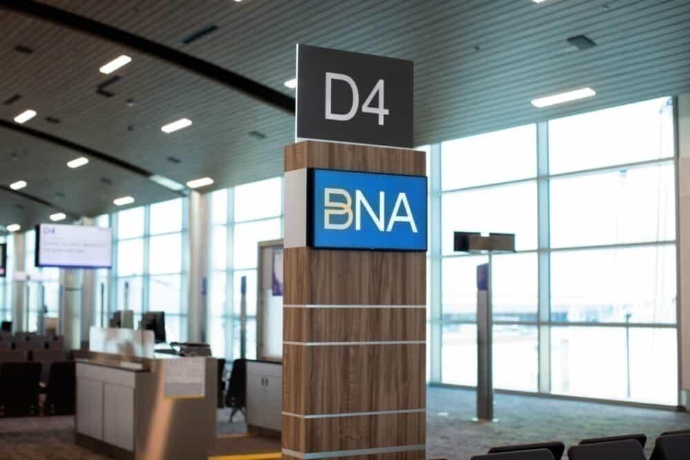 Terminal D sign