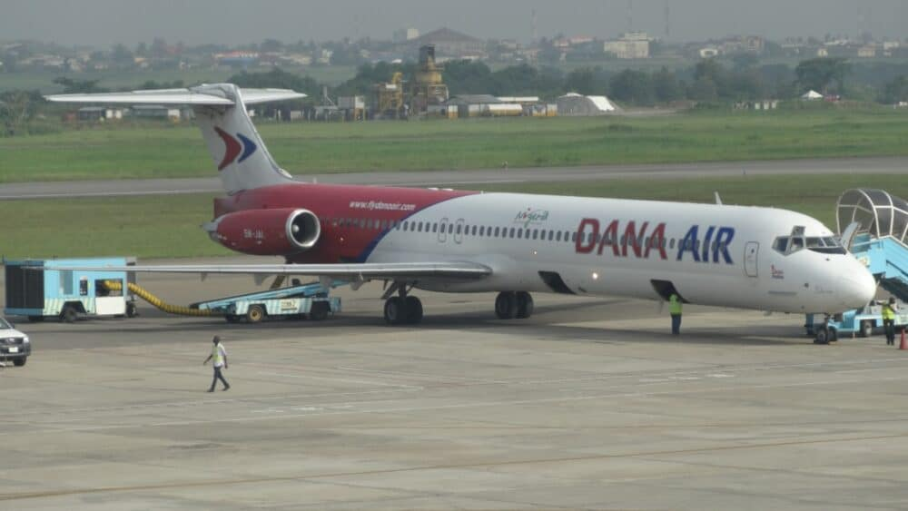 Dana Air parked plane