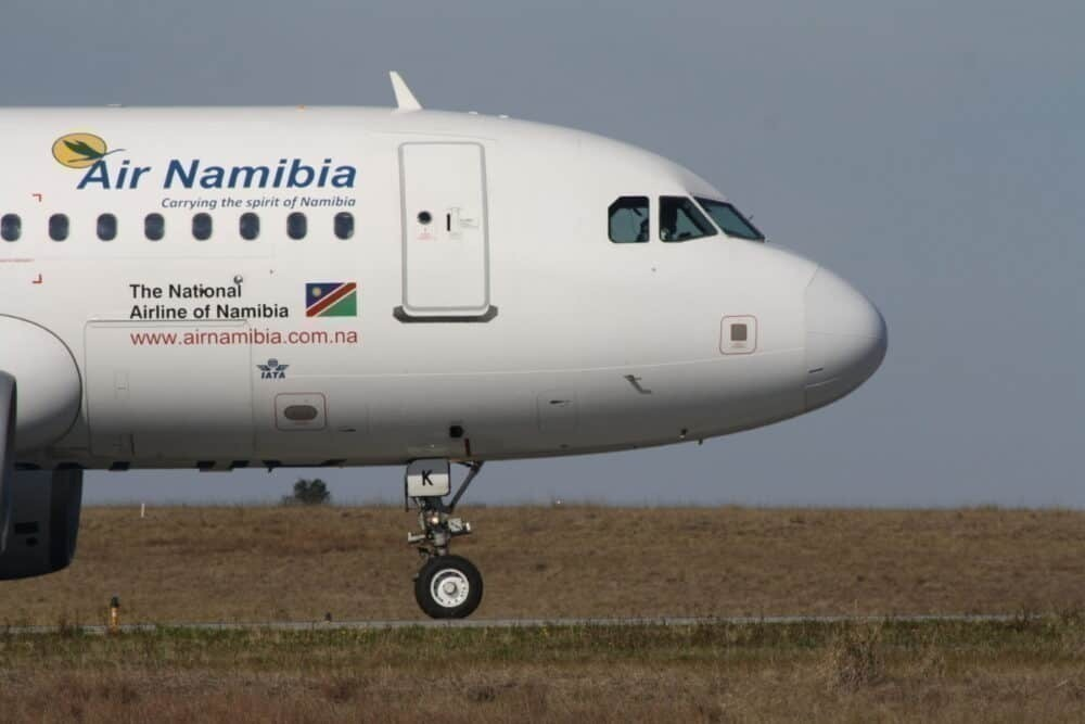 National airline of Namibia, front view