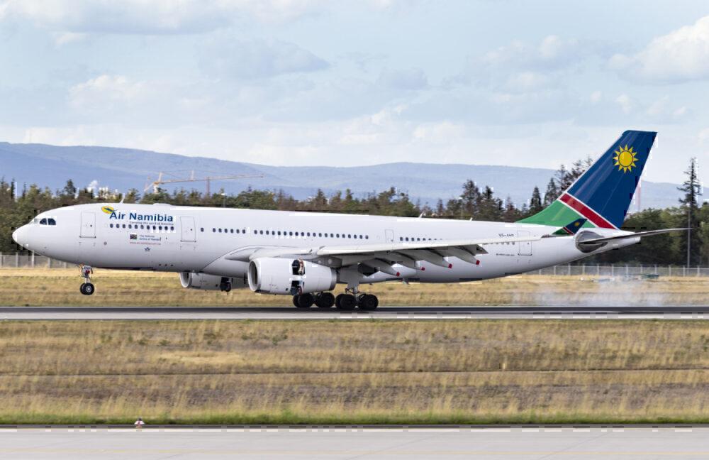 Air Namibia take-off