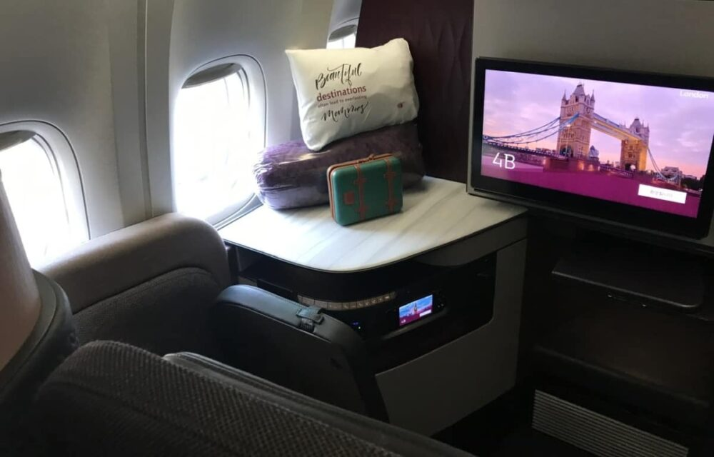 Qatar Airways Qsuite View
