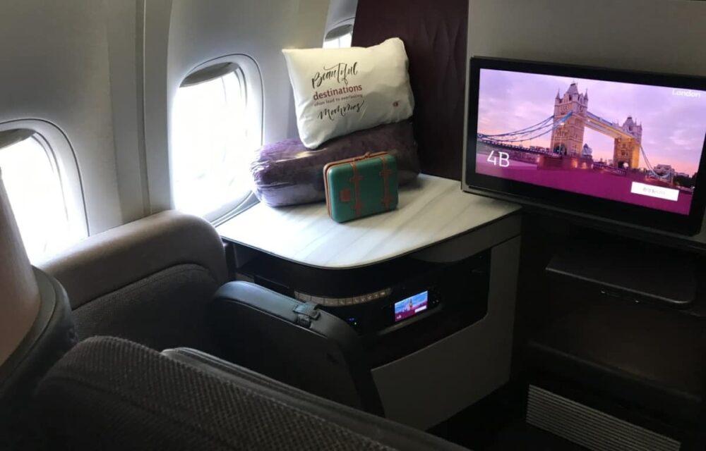 Qatar Airways Qsuite View