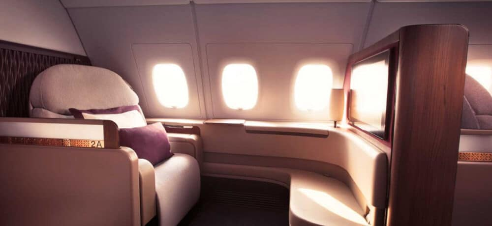 A380 cabin Qatar Airways