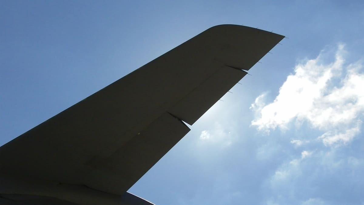 A raised aileron